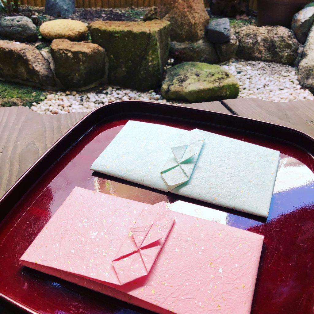 折形横型贈進紙幣包み山根折形礼法オリジナル