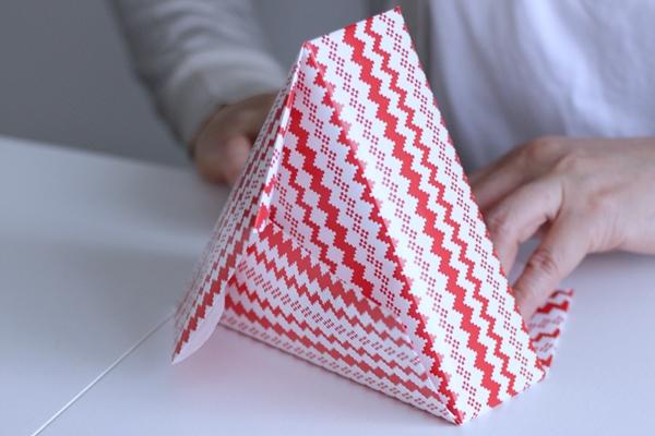 多角形の箱ラッピングは展開を理解することが大切